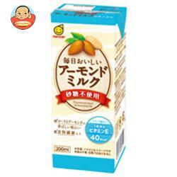 マルサンアイ 毎日おいしい アーモンドミルク 砂糖不使用 200ml紙パック×24(12×2)本入