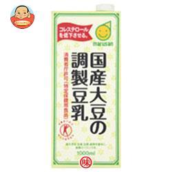マルサンアイ 国産大豆の調製豆乳【特定保健用食品 特保】 1000ml紙パック×12(6×2)本入