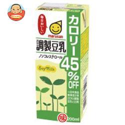 マルサンアイ 調製豆乳 カロリー45%オフ 200ml紙パック×24本入