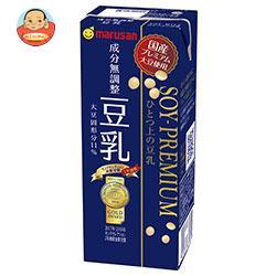 マルサンアイ ソイプレミアム ひとつ上の豆乳 成分無調整 200ml紙パック×24本入