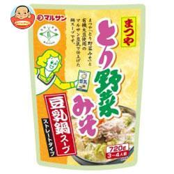 マルサンアイ まつや とり野菜みそ 豆乳鍋スープ 720g×8袋入