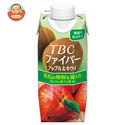 森永乳業 TBC ファイバー アップル&キウイ(プリズマ容器) 330ml紙パック×12本入