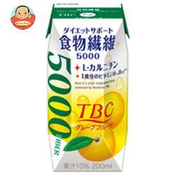 森永乳業 TBC 食物繊維 グレープフルーツ(プリズマ容器) 200ml紙パック×24本入