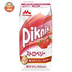 森永乳業 ピクニック ストロベリー(プリズマ容器) 200ml紙パック×24本入