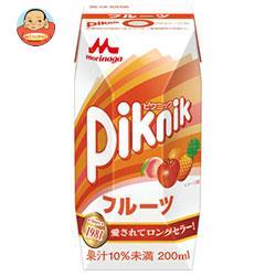 森永乳業 ピクニック フルーツ(プリズマ容器) 200ml紙パック×24本入