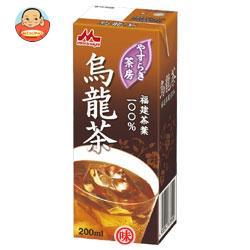 森永乳業 やすらぎ茶房 烏龍茶 200ml紙パック×24本入
