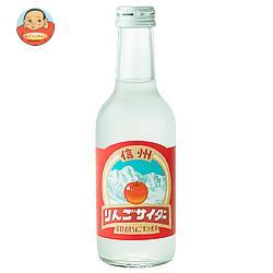 友桝飲料 信州りんごサイダー 245ml瓶×24本入