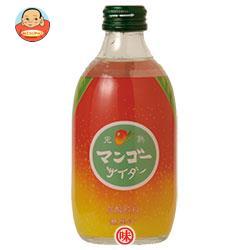 友桝飲料 完熟マンゴーサイダー 300ml瓶×24本入