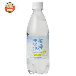 友桝飲料 蛍の郷の天然水スパークリング ほんのりレモン 500mlペットボトル×24本入