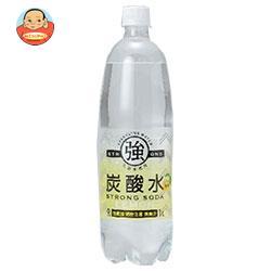 友桝飲料 強炭酸水レモン 1Lペットボトル×15本入