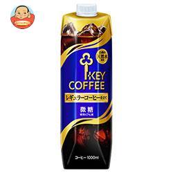 KEY COFFEE(キーコーヒー) リキッドコーヒー微糖 1L紙パック×6本入