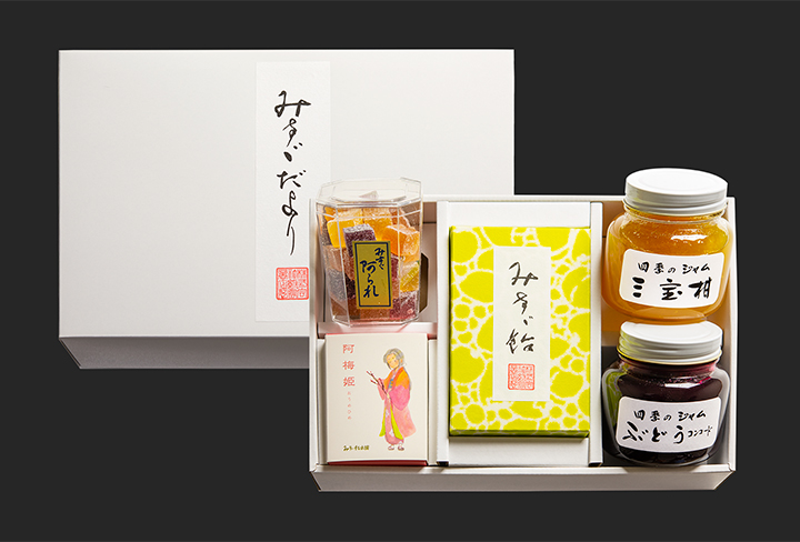 【贈答商品】みすゞだよりC (みすゞ飴和紙包装型入5個詰)