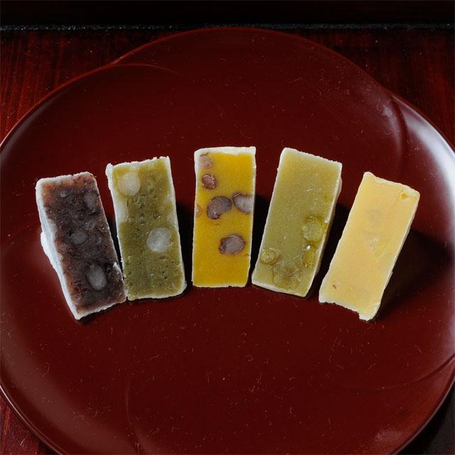 かぼちゃ・芋・小豆・抹茶・うぐいす 鎌倉いとこ 五色セット 6個入り