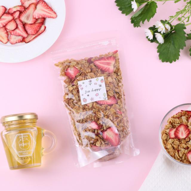 【新商品】 いちご&ハチミツ グラノーラ
