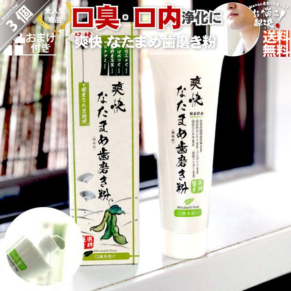 【3個セット】伝統爽快なた豆歯磨き粉(120g)【送料無料】