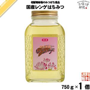 国産レンゲはちみつ 瓶入 (750g)【送料無料】