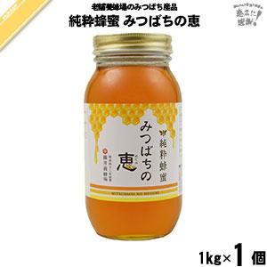 純粋蜂蜜 みつばちの恵 瓶入 (1kg)【5250円以上で送料無料】
