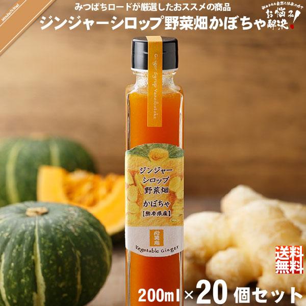 【20個セット】ジンジャーシロップ野菜畑 かぼちゃ 熊本産 (200ml)【送料無料】