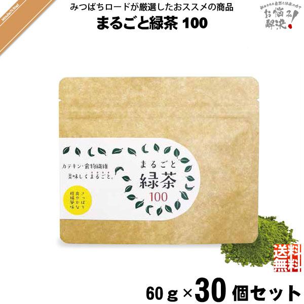【30個セット】 まるごと緑茶 100 (60g)【送料無料】