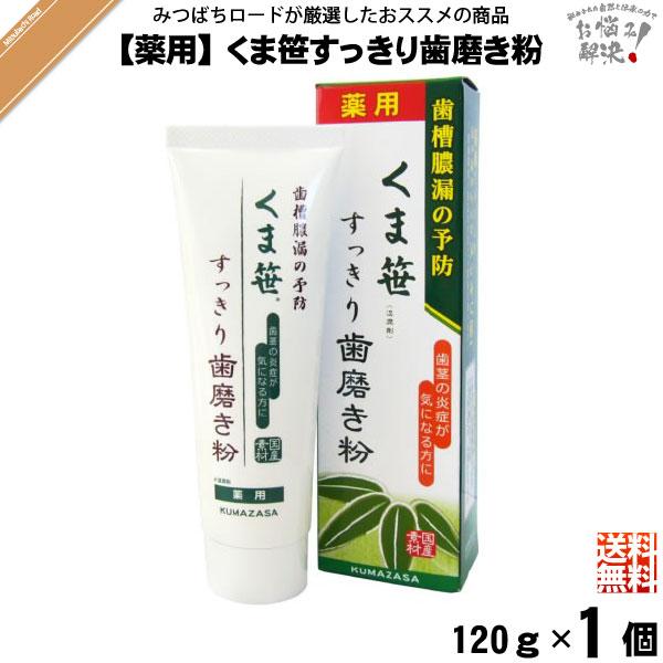 【お手軽】 薬用 くま笹すっきり歯磨き粉 (120g) 【送料無料】