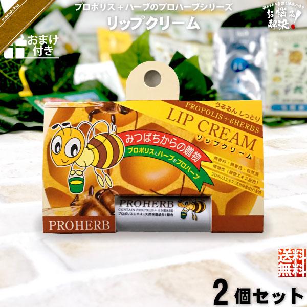 【お手軽 / 2個セット / おまけ付】プロハーブリップクリーム(4g)【送料無料】