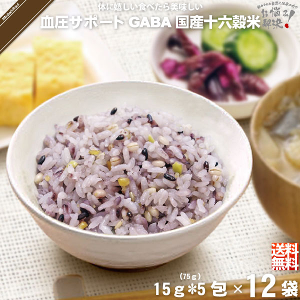 【12個セット】GAVA 血圧サポート 機能性表示食品 国産十六穀米 (15g×5)【5250円以上で送料無料】