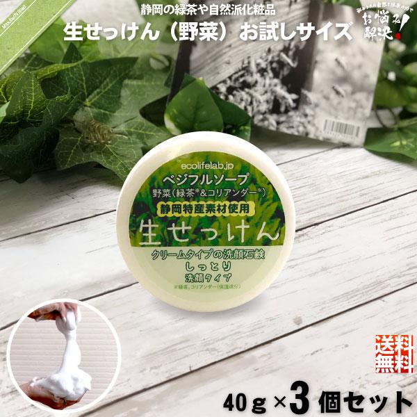 【お手軽 / 3個セット】旬の 生せっけん VEG 野菜 (40g)【送料無料】