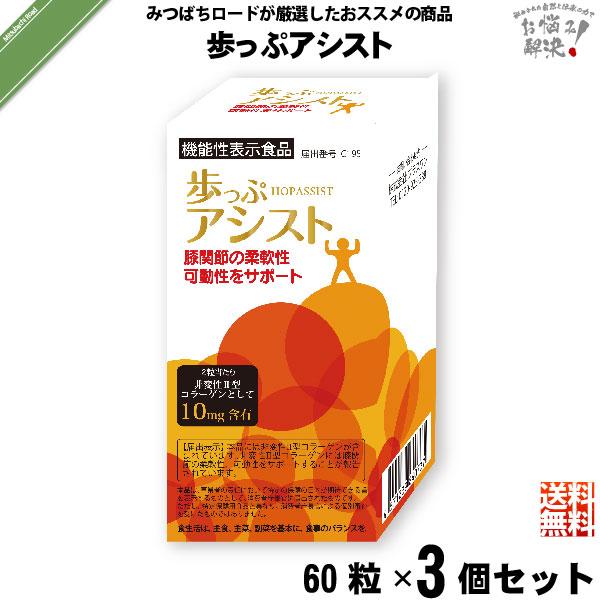 【3個セット】歩っぷアシスト(60粒)【送料無料】