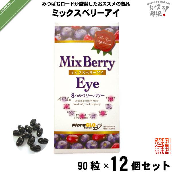 【12個セット】ミックスベリーアイ(90粒)【送料無料】
