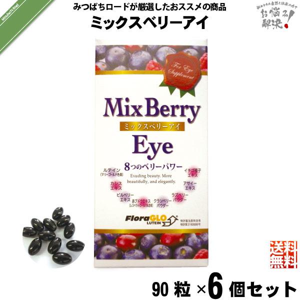 【6個セット】ミックスベリーアイ(90粒)【送料無料】
