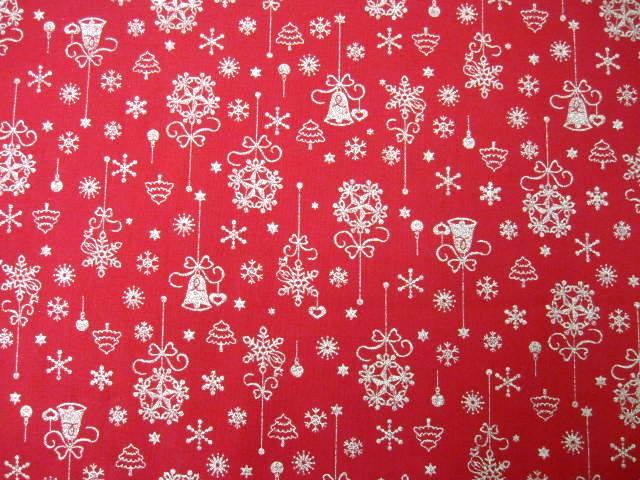 クリスマス生地 ★ No. 50 ★ 110 cm 幅 ★ クリスマスタペストリー、ツリー、小物などに [x-0050]