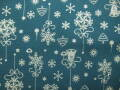 クリスマス生地 ★ No,74 ★ 110 cm 幅 ★ クリスマスタペストリー、ツリー、小物などに [x-0074]