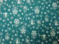クリスマス生地 ★ No. 48 ★ 110 cm 幅 ★ クリスマスタペストリー、ツリー、小物などに [x-0048]