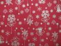 クリスマス生地 ★ No.76 ★ 110 cm 幅 ★ クリスマスタペストリー、ツリー、小物などに [x-0076]