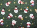 クリスマス生地 ★ No,77 ★ 110 cm 幅 ★ クリスマスタペストリー、ツリー、小物などに [x-0077]