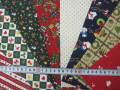 クリスマス生地 ★ カット 8枚入り ★ サイズ: 約 30cm×26.5cm ★ 小柄が中心です ★クリスマスタペストリー、ツリー、小物などに [x-0080]
