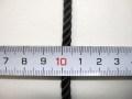 ファッション コード ★ 太さ : 約 5 ミリ ★ カラー : 黒 ★ 飾り、袋のひも、アクセントに最適 [h-0051]