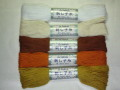 刺し子糸  ★ カラー: No.1~5  ★ 綿 100 %  ★ 1 カセ・40 m 巻  ★ 毛羽立ちが少なく美しい刺しあがり [i-0001]