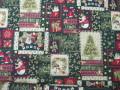 クリスマス生地 ★ No.8 ★ 110 cm 幅 ★ クリスマスタペストリー、ツリー、小物などに [x-0008]