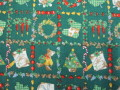 クリスマス生地 ★ No.13 ★ 110 cm 幅 ★ クリスマスタペストリー、ツリー、小物などに [x-0013]