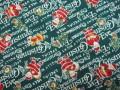クリスマス生地 ★ No.15 ★ 110 cm 幅 ★ クリスマスタペストリー、ツリー、小物などに [x-0015]