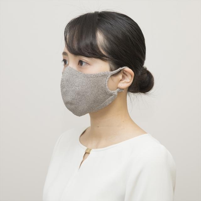 100回洗える夏マスク/hamon AG マスク(グレー)