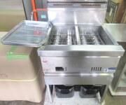 ★中古 マルゼン 2槽フライヤー 涼厨 MGF-C13WJ 都市ガス W630×D600×H800mm 2015年★