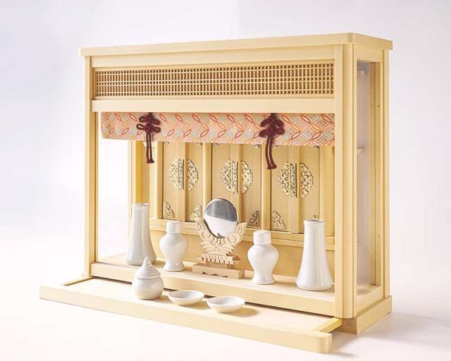 だいだい:奥行15.6cmの薄型でシンプルなデザインの箱宮