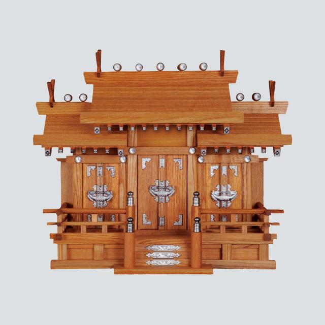 神棚:屋根宮「新けやき三社 小」