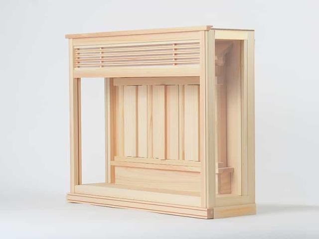 箱宮「さくら」:現代の住宅にもマッチするモダンで薄型な神棚