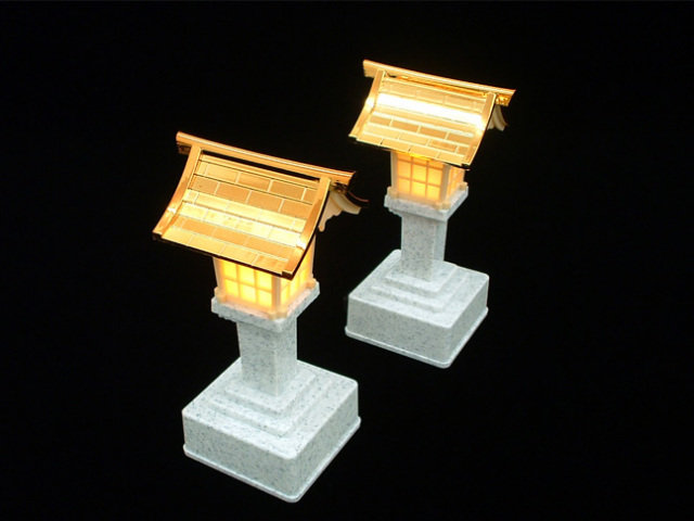 LED灯籠:心を清める煌く光