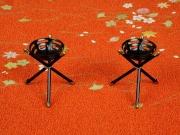 かがり火:ご家庭では焚松の代用でロウソクをご使用ください