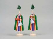神事の祭壇の左右に立てる祭具「真榊(まさかき)」