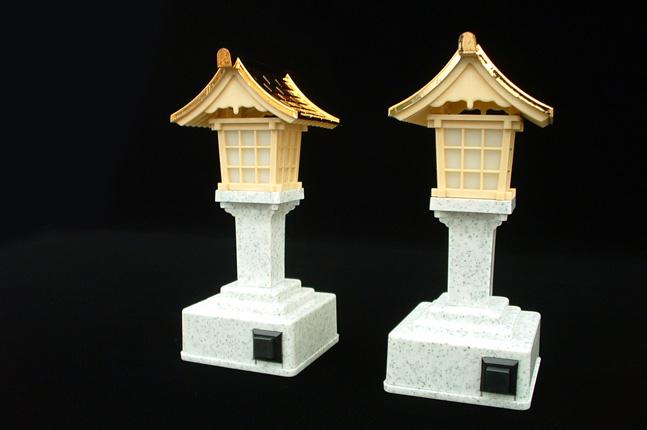 LED灯籠:設置場所を選ばないコードレスの灯籠